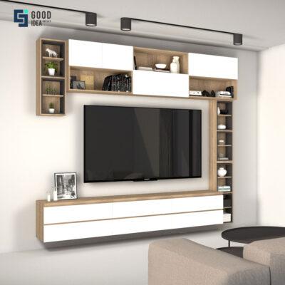 ชุดทีวีคอมโบสีขาวขนาด 2.7 เมตร