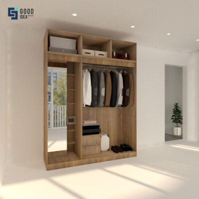 ตู้เสื้อผ้ากระจกส่องเต็มตัว ขนาด 1.8 เมตร